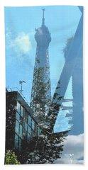 Eiffel Collage Beach Sheet