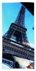 Eiffel In Motion Beach Sheet