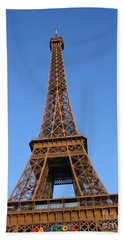 Eiffel Tower 2005 Ville Candidate Beach Towel by HEVi FineArt