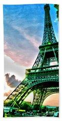 Eiffel Tower 8 Beach Towel by Micah May