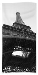 Eiffel Tower B/w Beach Sheet