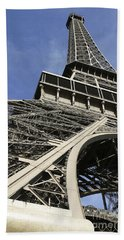 Beach Towel featuring the photograph Eiffel Tower by Belinda Greb