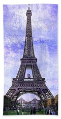 Eiffel Tower Paris Beach Towel