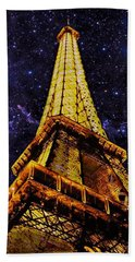 Eiffel Tower Photographic Art Beach Towel
