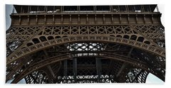 Beach Towel featuring the photograph Eiffel Tower - The Forgotten Names by Allen Sheffield
