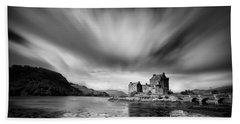 Eilean Donan Castle 1 Beach Sheet by Dave Bowman