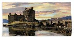 Eilean Donan Castle Scotland Beach Sheet