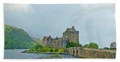 Eilean Donan Castle Textured 2 Beach Sheet