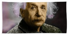 Einstein Explanation Beach Towel