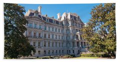 Eisenhower Executive Office Building In Washington Dc Beach Sheet