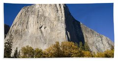 El Capitan In Yosemite National Park Beach Towel by David Millenheft