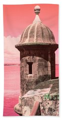 El Morro In The Pink Beach Towel