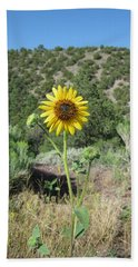 Elated Sunflower Beach Sheet