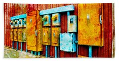 Electrical Boxes Iv Beach Towel