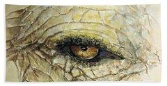 Elephant Eye Beach Sheet by Bernadette Krupa
