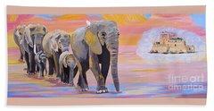 Elephant Fantasy Must Open Beach Sheet by Phyllis Kaltenbach