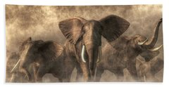 Elephant Stampede Beach Towel