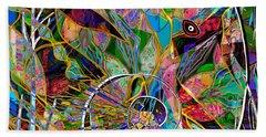 Elephant's Kaleidoscope Beach Towel