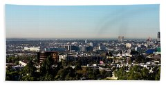Elevated View Of City, Los Angeles Beach Towel by Panoramic Images