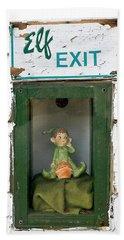 elf exit, Dubuque, Iowa Beach Towel
