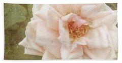 Elie Beauvillain Rose Textured Art Beach Sheet