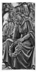 Bonaventure Cemetery Eliza Statute  Beach Towel