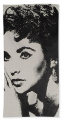 Elizabeth Taylor  Beach Sheet