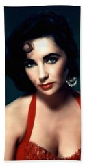 Elizabeth Taylor  Beach Sheet by Georgiana Romanovna