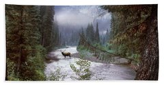 Elk Crossing 2 Beach Towel