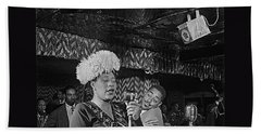 Ella Fitzgerald And Dizzy Gillespie William Gottleib Photo Unknown Location September 1947-2014. Beach Sheet