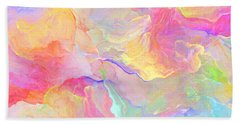 Eloquence - Abstract Art Beach Towel by Jaison Cianelli