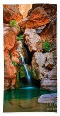 Elves Chasm Beach Towel by Inge Johnsson