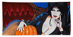 Elvira Dark Mistress Beach Towel