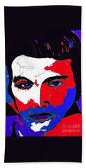 Elvis Made In The U S A Beach Towel by Saundra Myles
