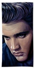 Elvis Presley Artwork 2 Beach Sheet by Sheraz A