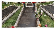 Elvis Presley Laid To Rest Beach Towel