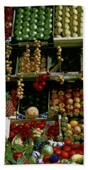 Glowing Paris Fruit Display Beach Towel by Tom Wurl