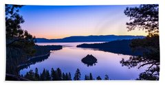 Emerald Bay Sunrise Beach Towel