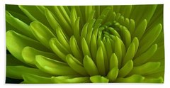 Emerald Dahlia Beach Towel