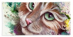 Emerald Eyes Beach Towel