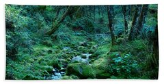 Beach Towel featuring the photograph Emerald Forest by Nick Kloepping
