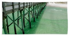 Beach Sheet featuring the photograph Emerald Green Tide  by Susan  McMenamin