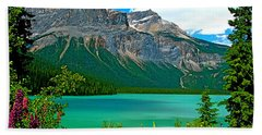 Emerald Lake In Yoho Np-bc Beach Sheet