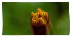 Emerging Bud - Yellow Flower Beach Towel