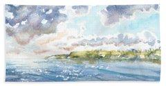 Emerging Sun  Beach Towel