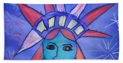 Emma's Lady Liberty Beach Towel by Alice Gipson