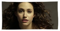 Emmy Rossum Beach Sheet by Movie Poster Prints
