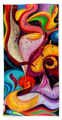 Modern Colorful Abstract  Beach Towel