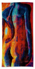 Beach Towel featuring the painting Emotive by Michael Cross
