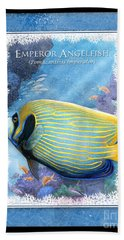 Emperor Angelfish Beach Towel